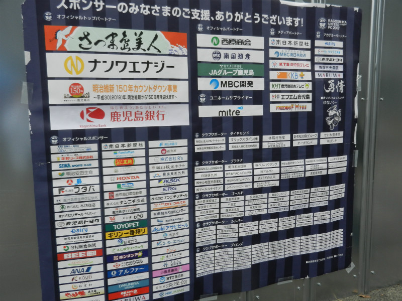 鹿児島ユナイテッドFCスポンサー